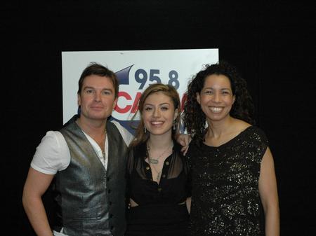 Gabriella Cilmi backstage at the Jingle Bell Ball