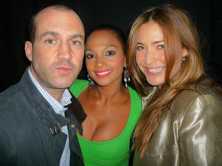 Johnny and Lisa at the Summertime Ball with Alesha Dixon