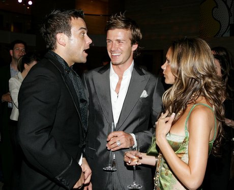 David Beckham And Robbie Williams