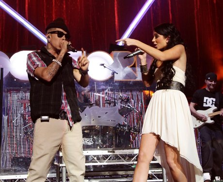 Tulisa and Dappy on stage