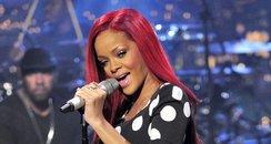 Rihanna performing live