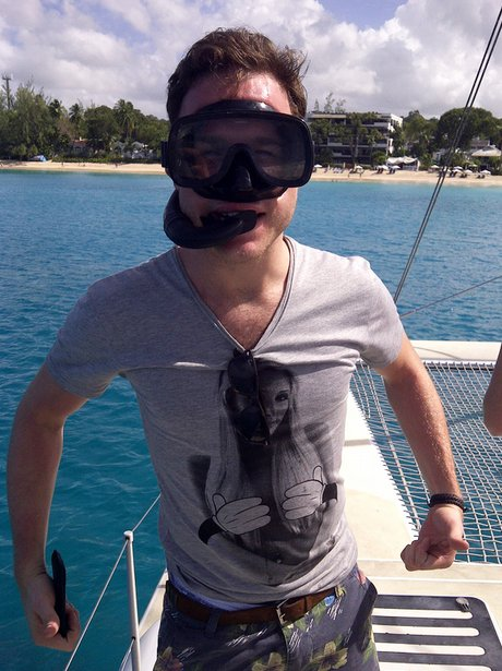 Olly Murs on holiday
