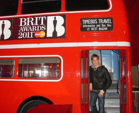 Capital backstage at the Brit Awards 2011