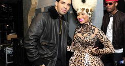 Drake with Nicki Minaj Grammy Awards backstage