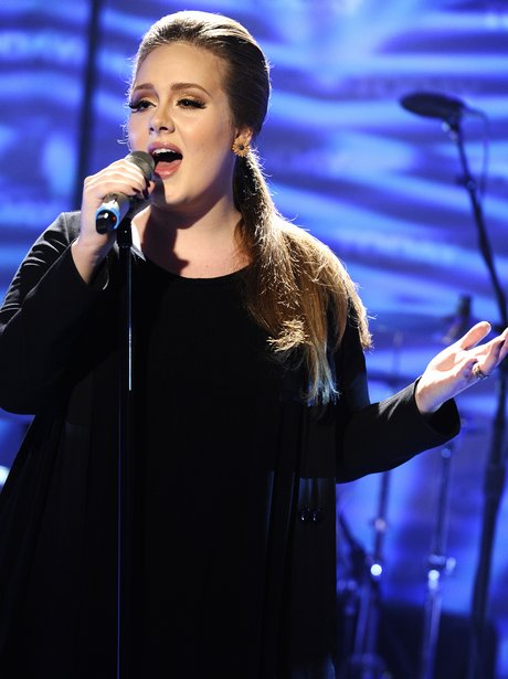 Adele performs live in 2011.