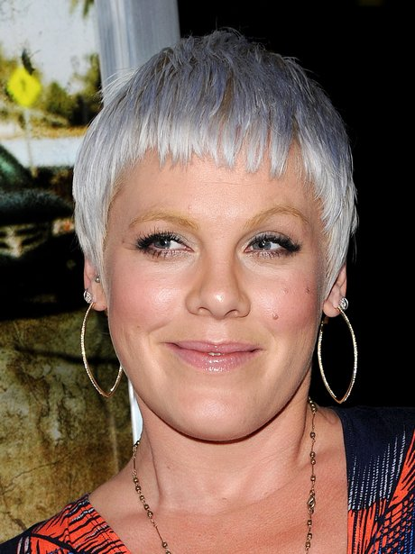 Pink with a new hairstyle