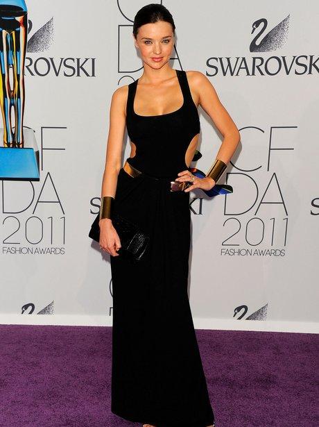 Miranda Kerr wearing an LBD at awards show