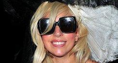Lady Gaga visits MTV's Times Square