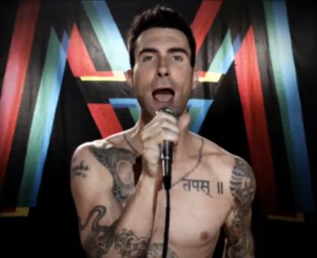 A still from Maroon 5's video for song 'Moves Like Jagger'