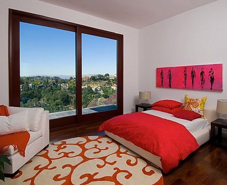 Rihanna's bedroom in LA