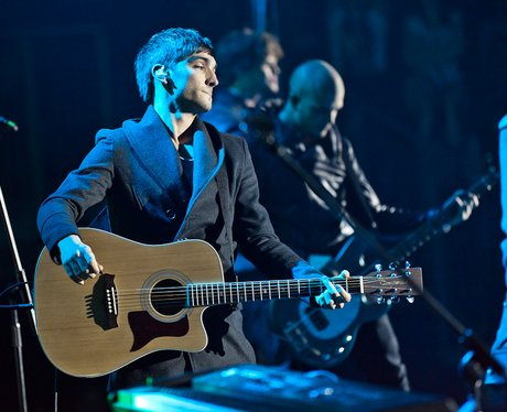 The Wanted performing live at the 2011 Jingle Bell Ball at the O2 Arena