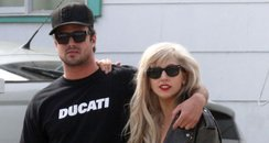 Lady gaga in california with new boyfriend