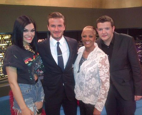 Jessie J and David Beckham on Twitter