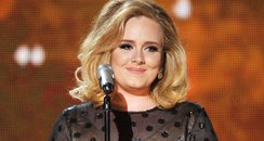 Adele performs at Grammy Awards 2012