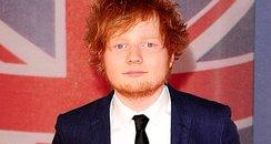 Ed Sheeran arrives at the BRIT Awards 2012