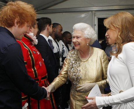 Ed Sheeran and The Queen