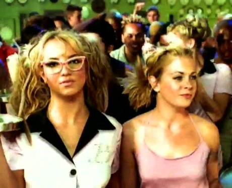 Britney Spears and Melissa Joan Heart in 'Crazy' video