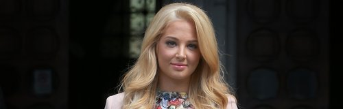 Tulisa at the Royal Courts of Justice