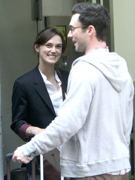 Adam Levine and Keira Knightly
