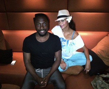 Will.i.am and Nicole Scherzinger in the studio together.