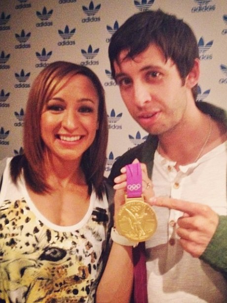 Example holds Jessica Ennis Olympic gold medal