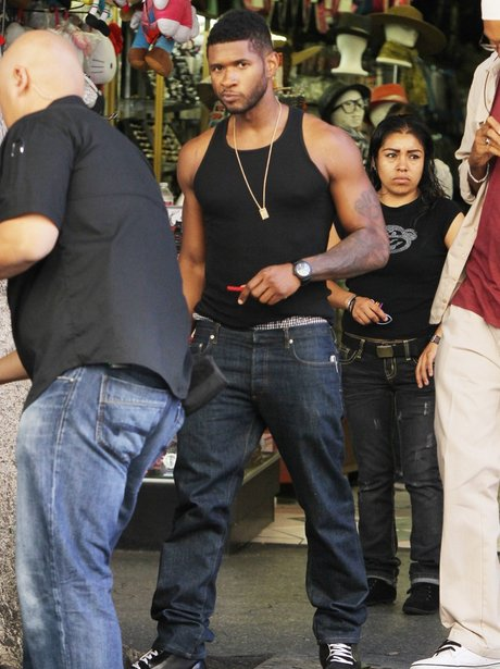 Usher films new music video