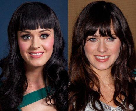 Katy Perry and Zooey Deschanel lookalike