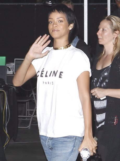 Rihanna's new short hair.