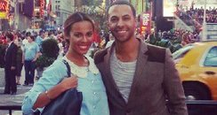 Rochelle Wiseman and Marvin Humes in NY