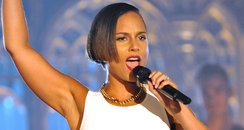 Alicia Keys performs live in a church for MTV