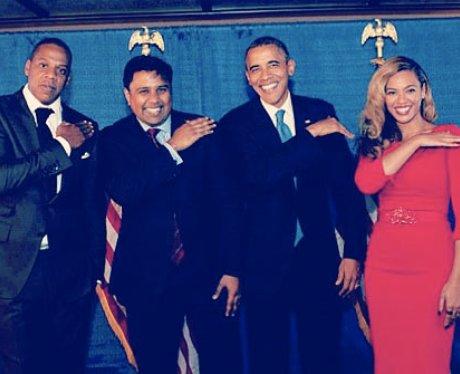 Beyonce, Jay-Z and Barack Obama  dust off their shoulder