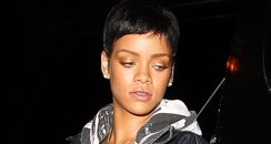 Rihanna heading to a studio in Hollywood
