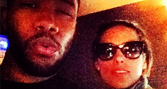 Alicia Keys And Frank Ocean recording studio