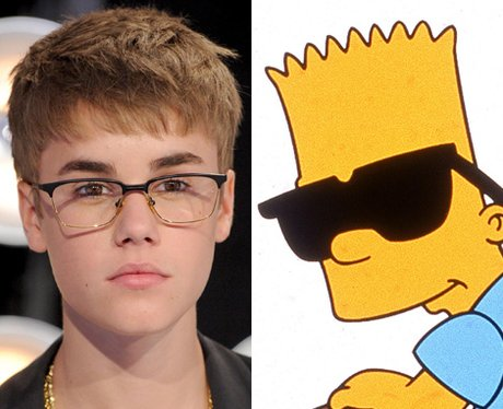 Justin Bieber and Bart Simpson