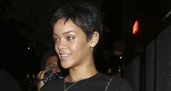 Rihanna leaving thr tattoo parlour in Hollywood