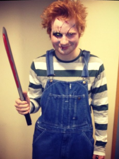 Ed Sheeran dressed as Chucky