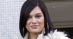 Jessie J wearing a leapoard print dress