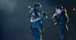 Will.i.am and Cheryl Cole at the jingle bell ball