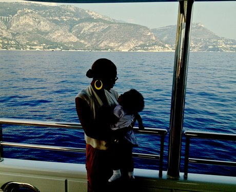 Beyonce and baby Blue Ivy on holiday