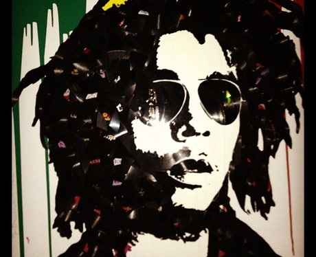Rihanna shares a Bob Marley portrait on Instagram