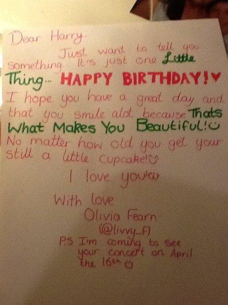 One Directions Harry Styles 19th Birthday Card Capital – Birthday Card Lyrics