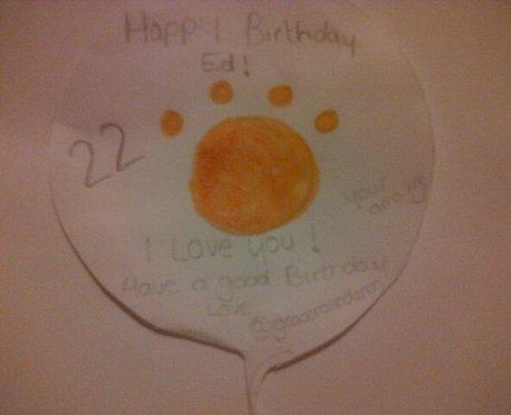 ed sheeran birthday card