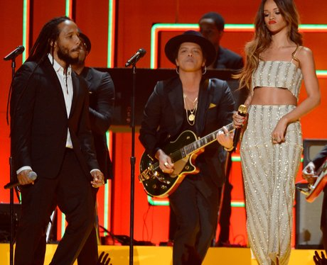 Rihanna, Ziggy Marley and Bruno Mars live at the 2