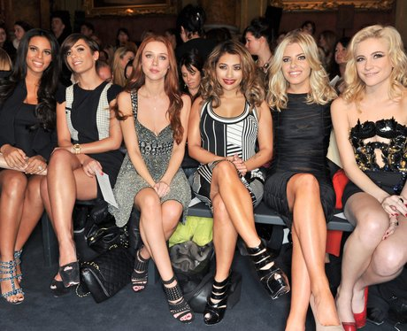 The Saturdays and Pixie Lott front row at London Fashion Week
