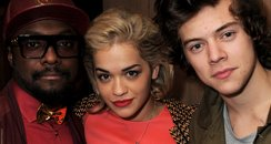 Will.i.am, Rita Ora and Harry Styles