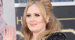 Adele arrives at the Oscars 2013