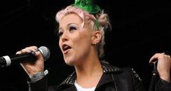 Amelia Lily performs during the St. Patricks Day
