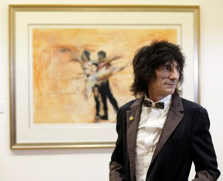 Lady Gaga present ideas: ronnie wood with his painting