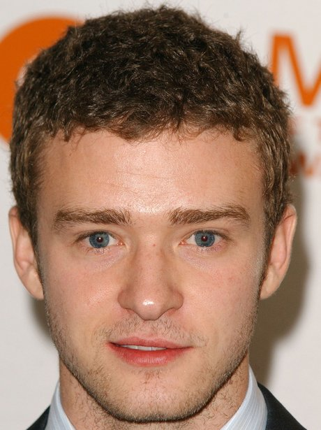 Justin Timberlake with short curly hair in 2003