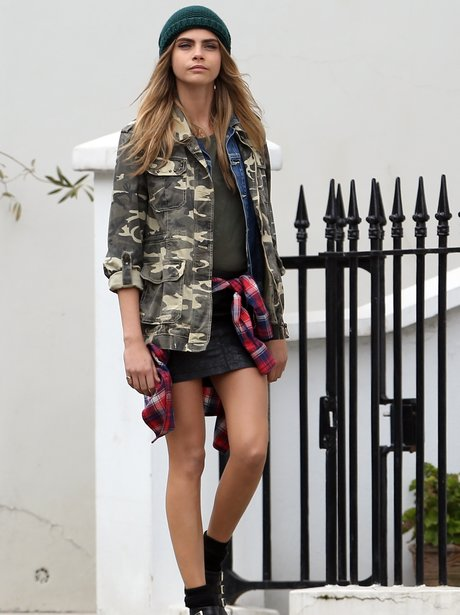 Cara Delevingne during a photoshoot in London
